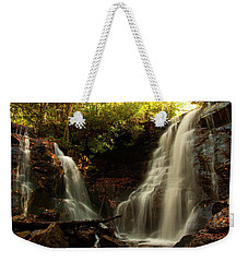 Weekender Tote Bag featuring the photograph Soco Waterfalls From Spillway by Chris Flees