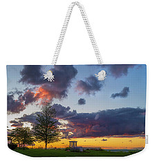Sodus Bay Lighthouse At Sunset Weekender Tote Bag