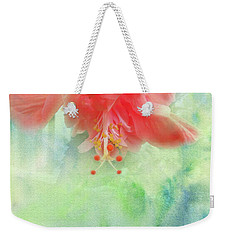 Weekender Tote Bag featuring the photograph Sofly Colored by Judy Hall-Folde