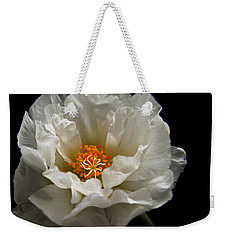 Weekender Tote Bag featuring the photograph Soft And Pure by Judy Vincent