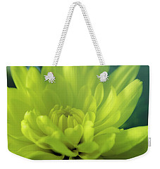Weekender Tote Bag featuring the photograph Soft Center by Ian Thompson
