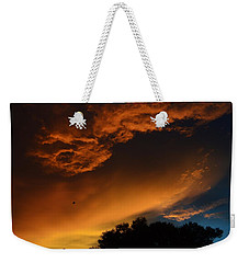 Soft Clouds And Contrast Weekender Tote Bag by Warren Thompson