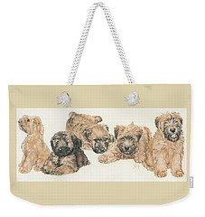 Soft-coated Wheaten Terrier Puppies Weekender Tote Bag