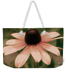 Soft Delicate Pink Daisy Weekender Tote Bag by Judy Palkimas
