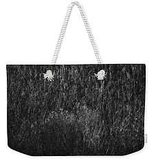 Soft Grass Black And White Weekender Tote Bag