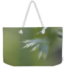 Weekender Tote Bag featuring the photograph Soft Green by Michaela Preston