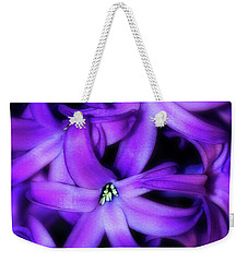 Soft Hyacinth Weekender Tote Bag by Judi Bagwell