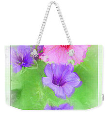 Soft Petunias Weekender Tote Bag