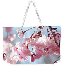 Soft Pink Blossoms Weekender Tote Bag by Trina Ansel