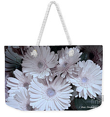 Soft Pink Daisy Bouquet Weekender Tote Bag by Jeannie Rhode
