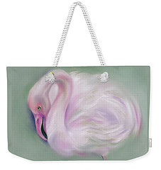 Soft Pink Flamingo Weekender Tote Bag