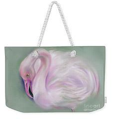 Soft Pink Flamingo Weekender Tote Bag