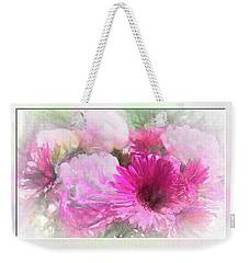 Soft Pink Gerbera Weekender Tote Bag