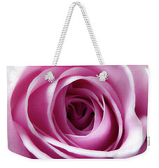 Soft Pink Rose 4 Weekender Tote Bag