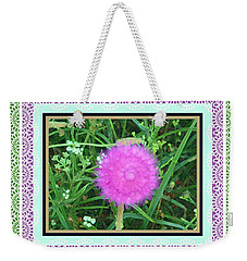 Soft Pink Thistle Weekender Tote Bag by Shirley Moravec