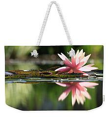 Soft Pink Water Lily Weekender Tote Bag