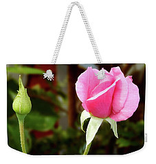 Soft Pink Wild Rose Weekender Tote Bag