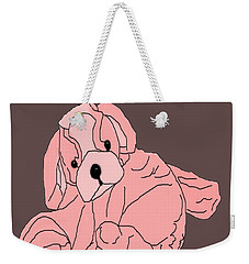 Weekender Tote Bag featuring the digital art Soft Puppy Pink by Jayvon Thomas