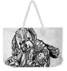 Weekender Tote Bag featuring the drawing Soft Puppy Sketch by Jayvon Thomas