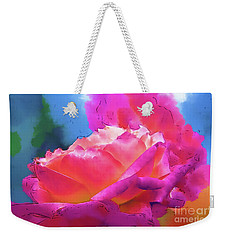 Soft Rose Bloom In Red And Purple Weekender Tote Bag by Kirt Tisdale
