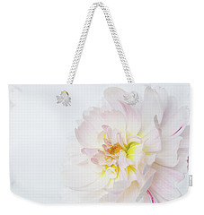 Weekender Tote Bag featuring the photograph Soft Ruffles by Mary Jo Allen