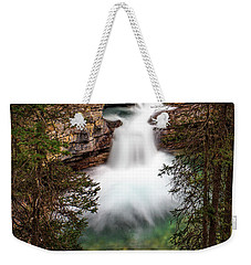 Weekender Tote Bag featuring the photograph Soft Smooth Waterfall by Darcy Michaelchuk