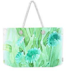 Soft Watercolor Floral Weekender Tote Bag by Judy Palkimas