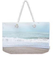 Weekender Tote Bag featuring the mixed media Soft Waves 2- Art By Linda Woods by Linda Woods