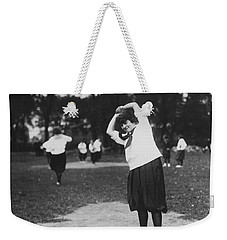 Softball Game Weekender Tote Bag