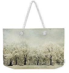 Softly Falling Snow Weekender Tote Bag
