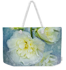 Weekender Tote Bag featuring the photograph Softly In Blue by Betty LaRue