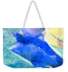 Softly Iris Weekender Tote Bag by Arlene Carmel