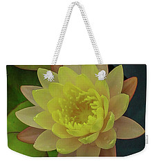 Softly Pink And Yellow Lilly Weekender Tote Bag