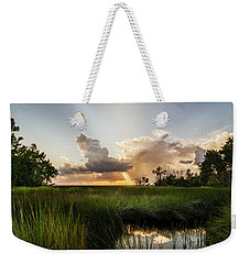 Weekender Tote Bag featuring the photograph Softly The Evening Came With The Sunset by Chris Bordeleau