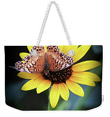 Weekender Tote Bag featuring the photograph Softness In Nature by Elaine Malott