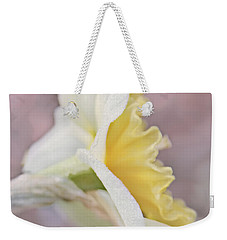 Weekender Tote Bag featuring the photograph Softness Of A Daffodil Flower by Jennie Marie Schell