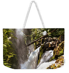 Weekender Tote Bag featuring the photograph Sol Duc Falls by Adam Romanowicz