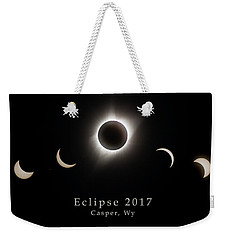 Weekender Tote Bag featuring the photograph Solar Eclipse Collage 2 by Rikk Flohr