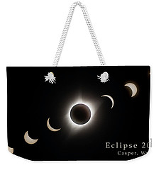 Weekender Tote Bag featuring the photograph Solar Eclipse Collage 3 by Rikk Flohr