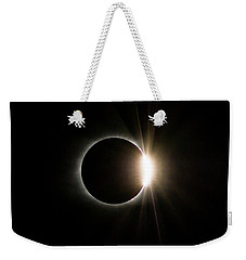 Solar Eclipse Diamond Ring Weekender Tote Bag