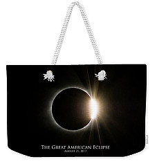 Solar Eclipse Diamond Ring With Text Weekender Tote Bag