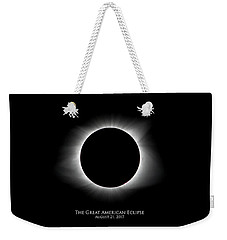 Solar Eclipse Ring Of Fire With Text Weekender Tote Bag