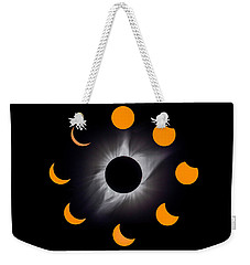 Solar Eclipse Stages Weekender Tote Bag