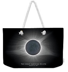 Solar Eclipse With Moon Detail And Text Weekender Tote Bag