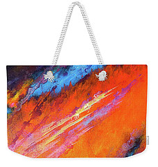 Solar Flare Up. Acrylic Abstract Painting On Canvas. Weekender Tote Bag