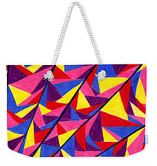 Weekender Tote Bag featuring the drawing Solar Fractals by Kim Sy Ok