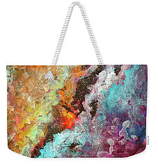 Solar Fusions Abstract Painting.  Weekender Tote Bag