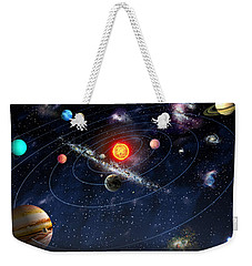 Weekender Tote Bag featuring the digital art Solar System by Gina Dsgn