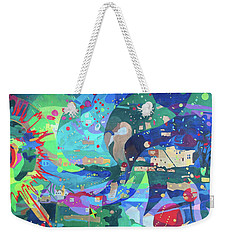 Weekender Tote Bag featuring the painting Solar Wind by Denise Weaver Ross