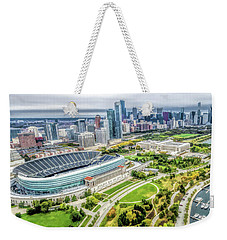 Soldier Field Chicago Skyline Weekender Tote Bag